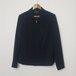 Simply Manakin | Black Zippered Blazer Size 12